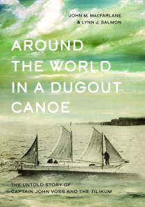 "Book cover image of ""Around the World in a Dugout Canoe."""